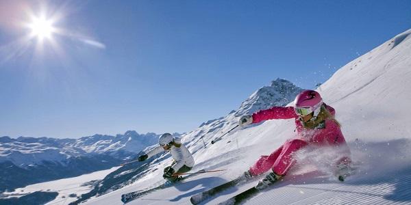 Skifahren engadin